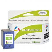 Cartucho HP 22  15ml color  remanufaturado