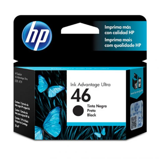 Cartucho de Tinta Ink Advantage CZ637AL HP 46 26ml